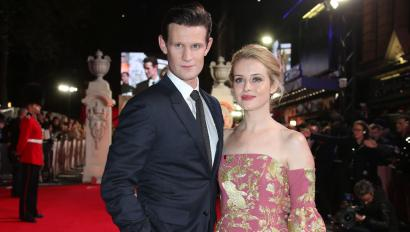 Actors Matt Smith and Claire Foy pose for photographers upon arrival at the premiere of the film 'The Crown' in London, Tuesday, Nov. 1, 2016. (Photo by Joel Ryan/Invision/AP)