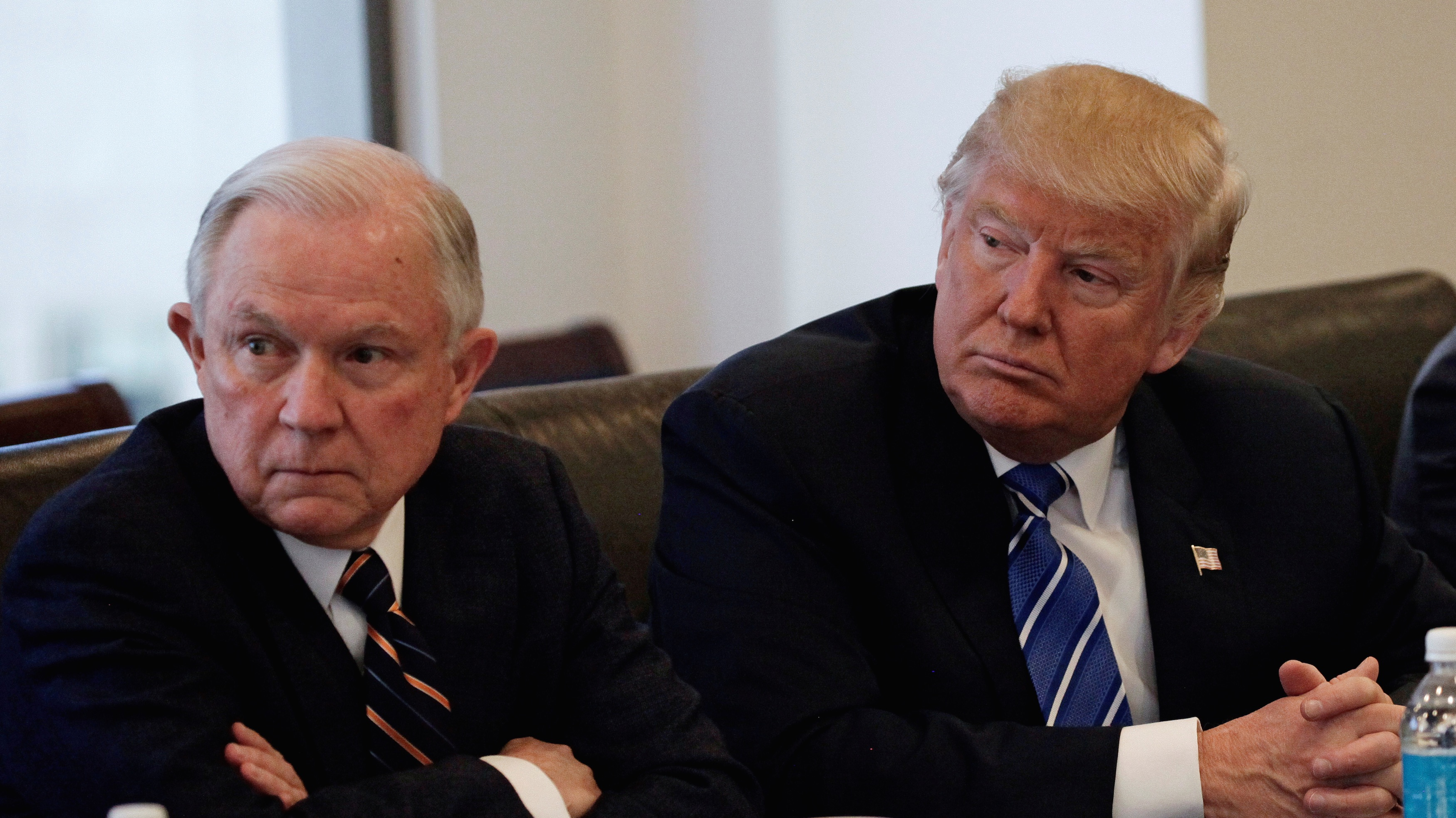 President-elect Donald Trump with his Attorney General appointee, Alabama senator Jeff Sessions.