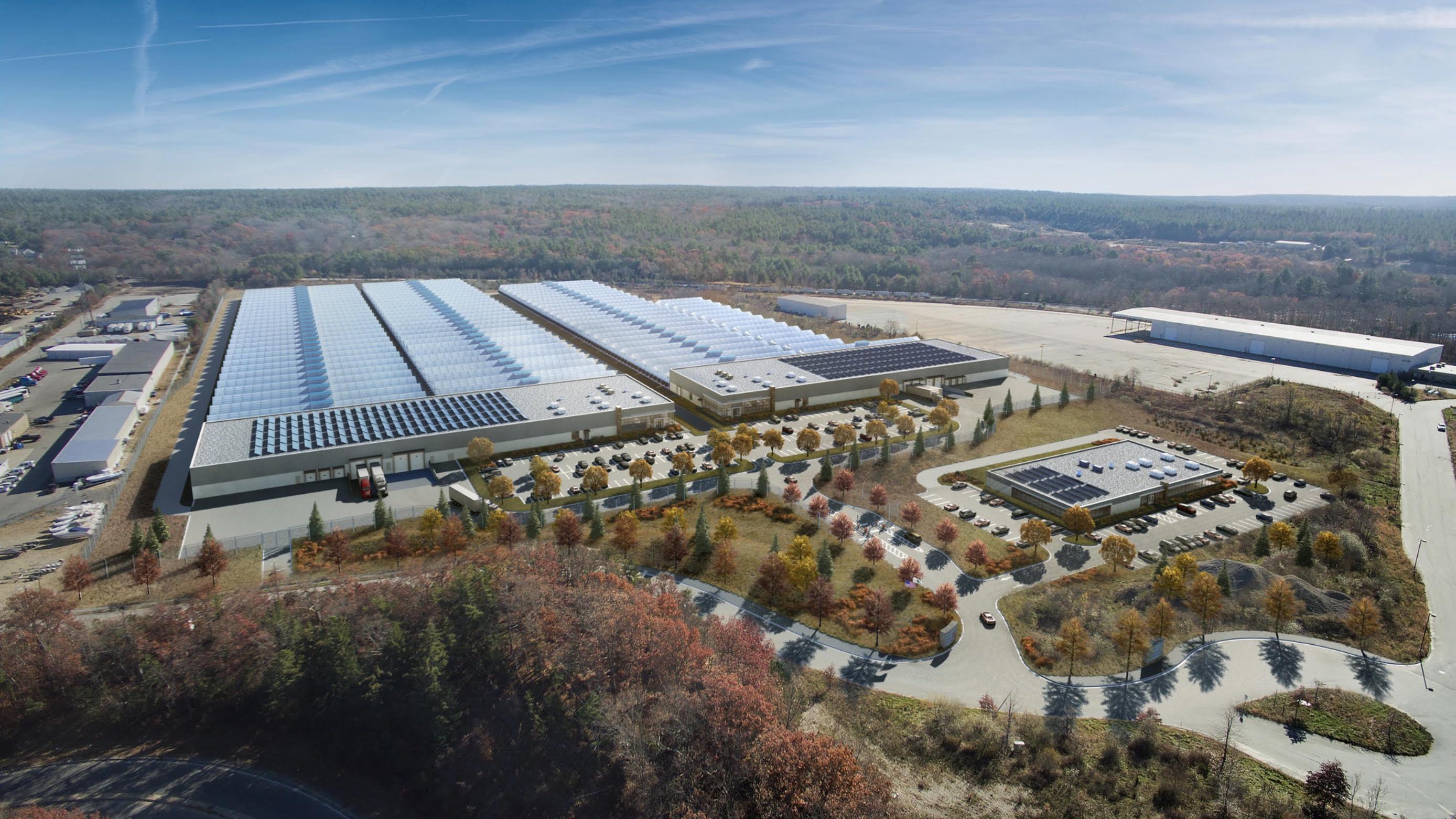AmeriCann Freemont, MA facility rendering.