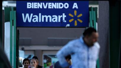 welcome sign at Wal-Mart store in Mexico