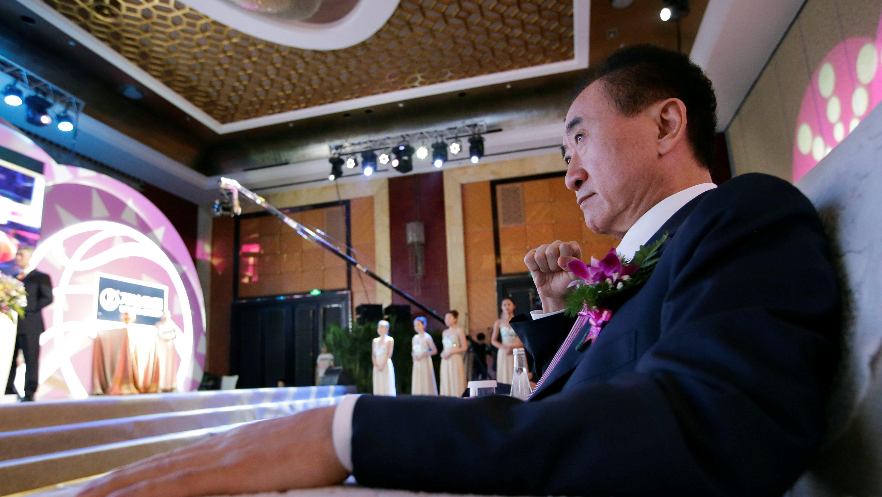 Wang Jianlin, chairman of the Wanda Group, attends a signing ceremony for the strategic partnership between FIBA and Wanda Group in Beijing, China June 16, 2016. REUTERS/Jason Lee