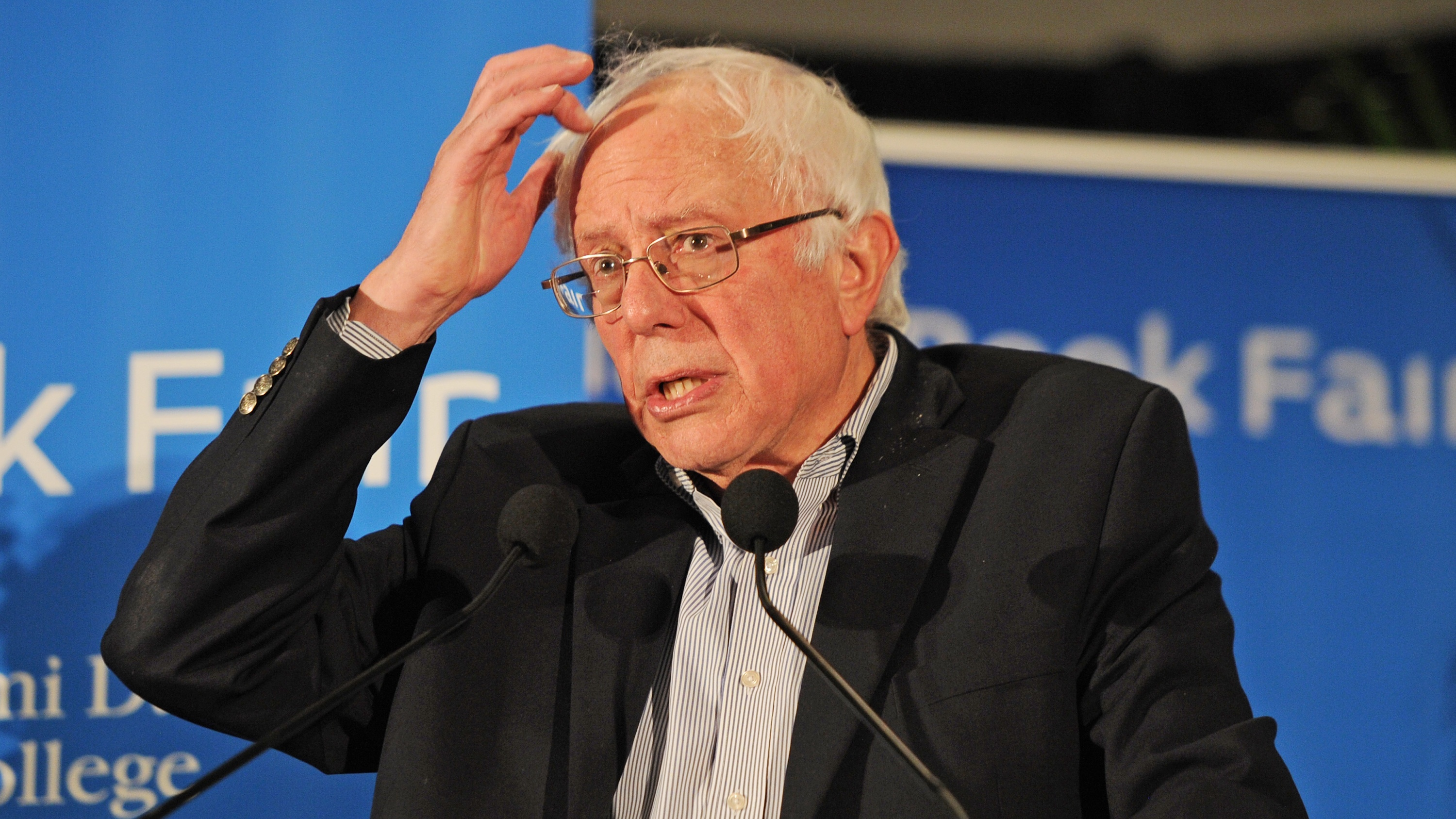 Bernie Sanders speaks during the 2016 Miami Book Fair at Miami Dade College on November 19, 2016 in Miami Florida. Credit: mpi04/MediaPunch/IPX