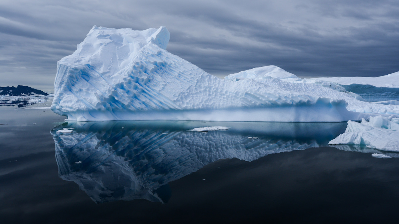 a floating iceberg in the antarctic