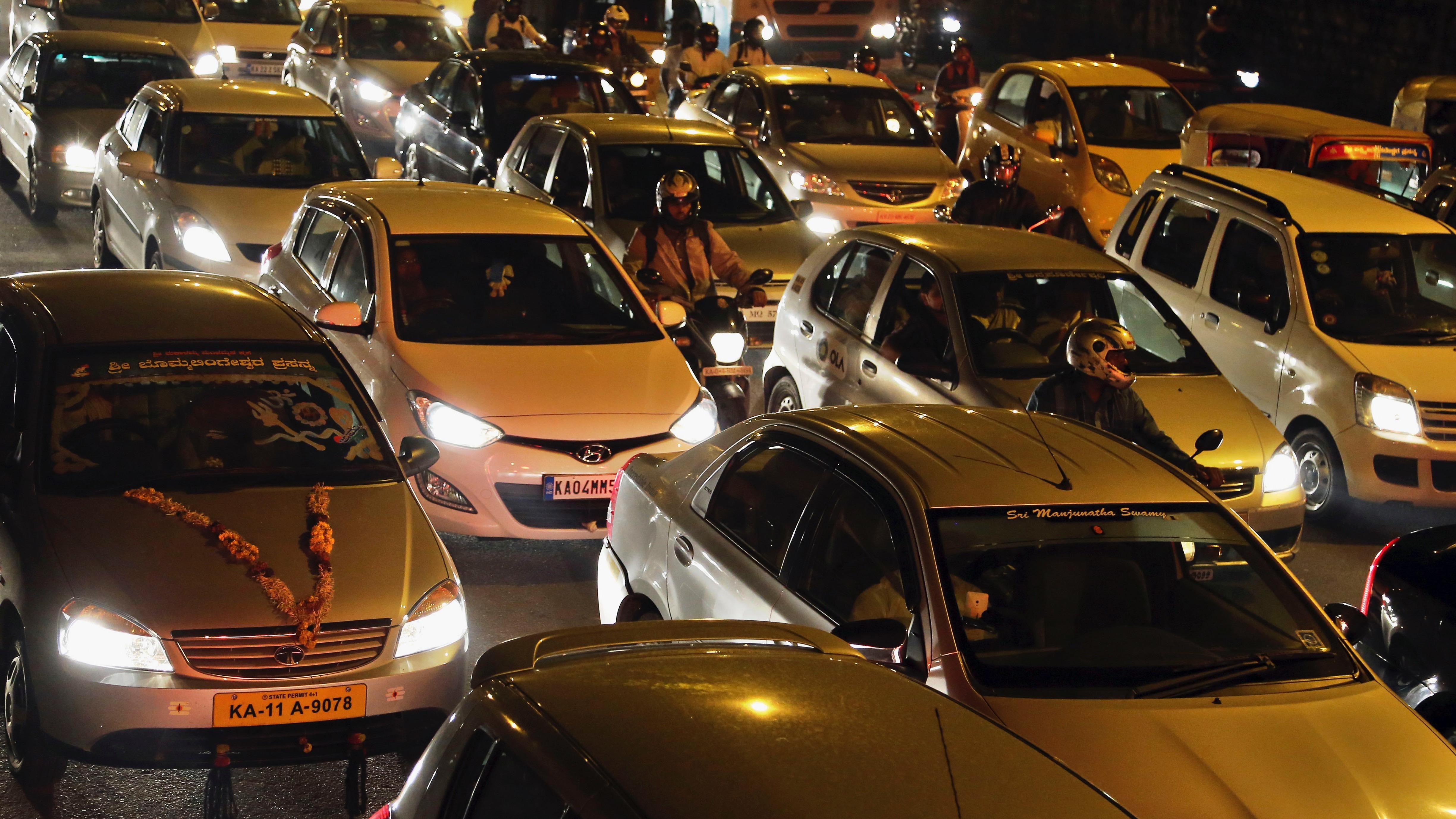 Bangalore crowded road