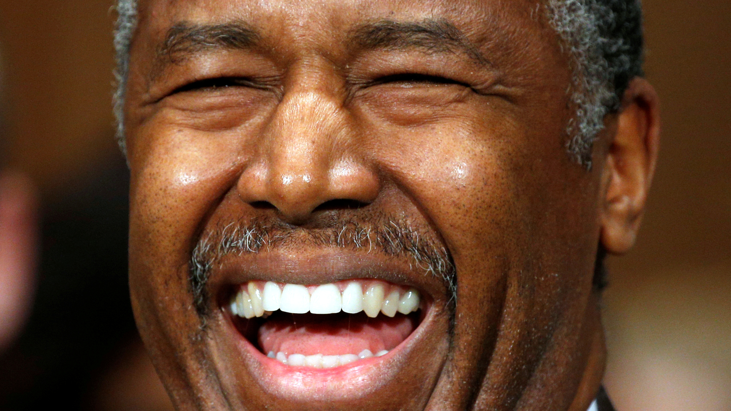 Dr. Ben Carson smiles as he testifies before a Senate Banking, Housing and Urban Affairs Committee confirmation hearing on his nomination to be Secretary of the U.S. Department of Housing and Urban Development on Capitol Hill in Washington, U.S. January 12, 2017.