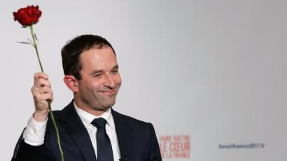 French Socialist Party candidate Benoit Hamon