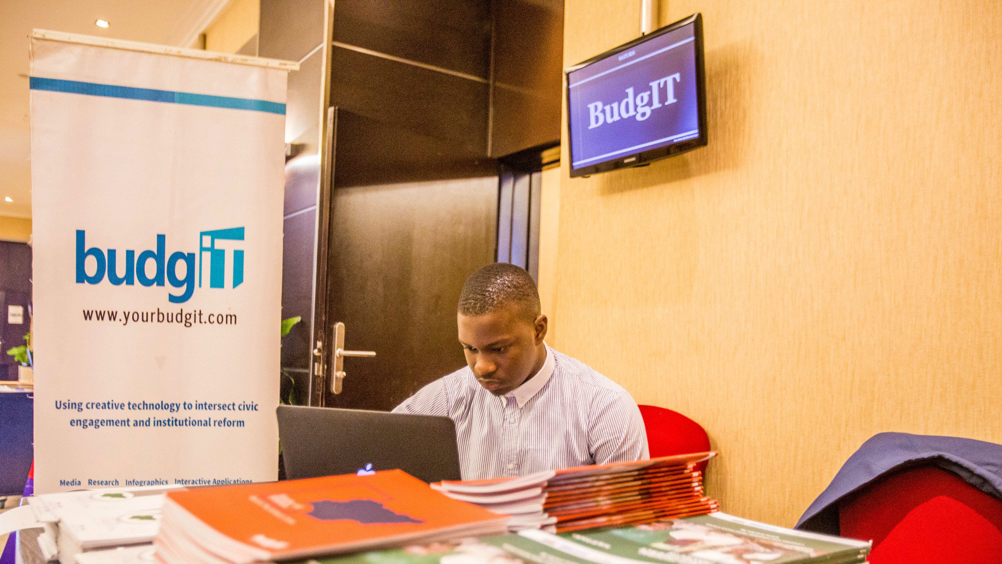 BudgIT personnel attending an anti-corruption event in Lagos.