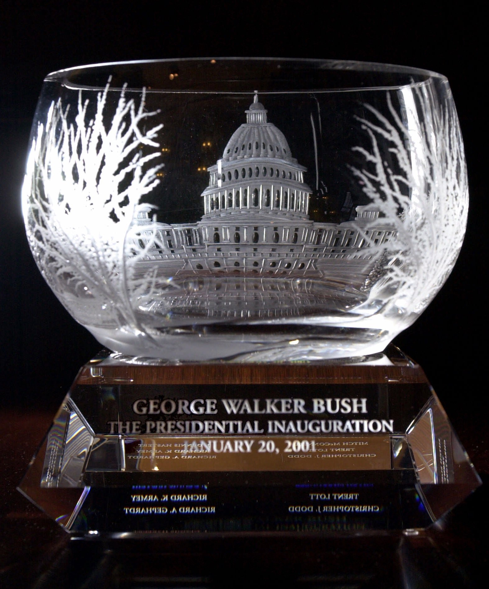George W. Bush's inaugural gift from Lenox.