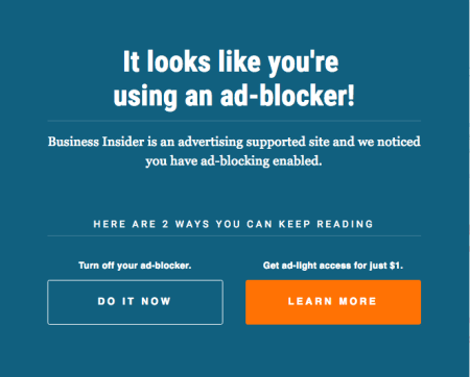Business Inside anti ad blocker