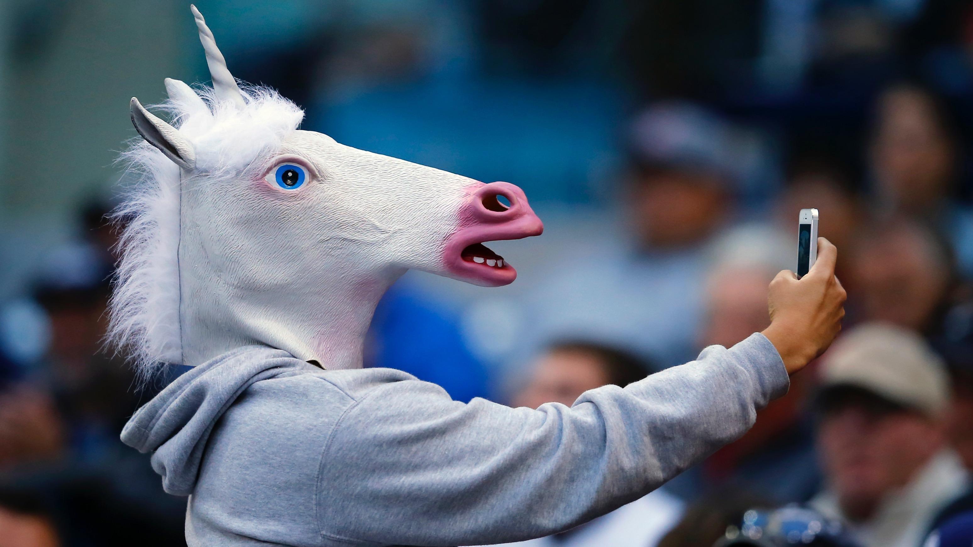 Unicorn mask phone