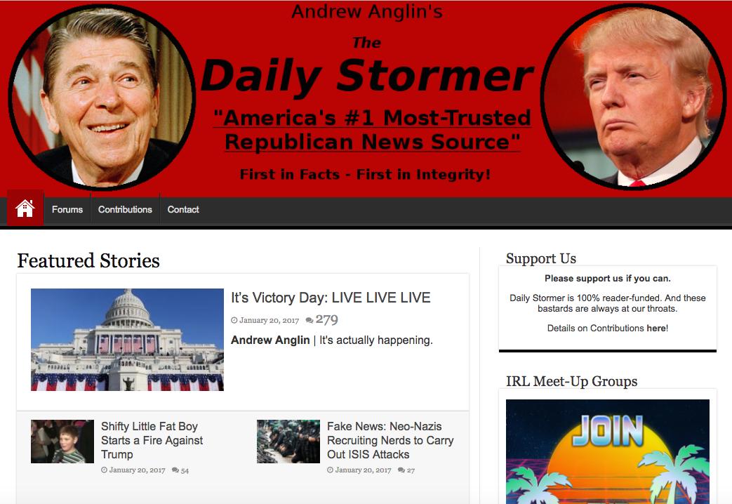 Screenshot/The Daily Stormer