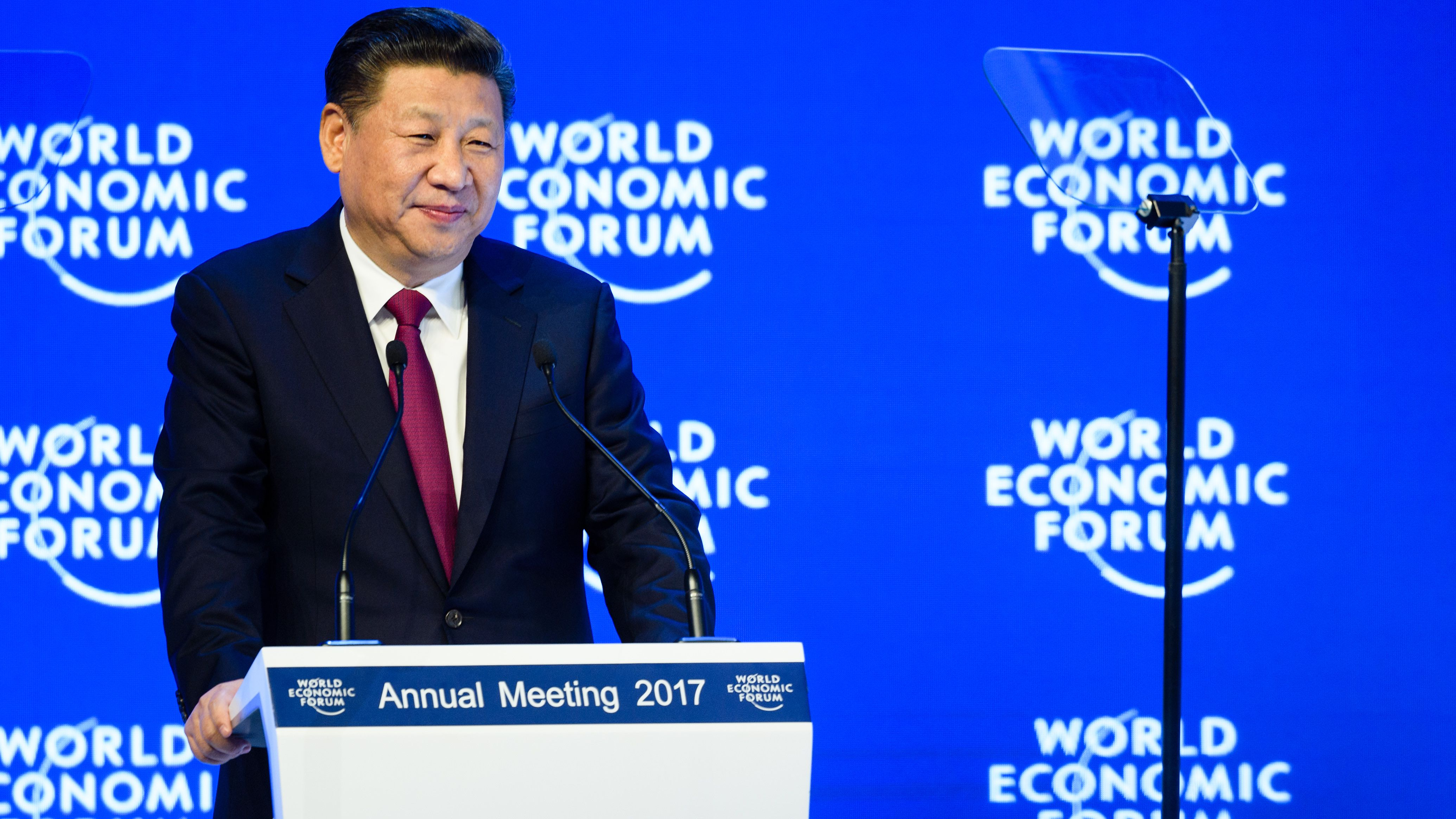 Xi Jinping, President of the People's Republic of China speaking at the Annual Meeting 2017 of the World Economic Forum in Davos, January XX, 2017. Copyright by World Economic Forum / Manuel Lopez
