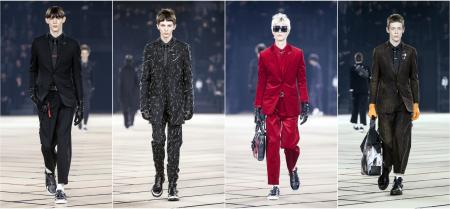 Models present creations from the Fall/Winter 2017/18 Men's collection by Belgian designer Kris Van Assche for Dior during the Paris Fashion Week, in Paris, France, 21 January 2017. The presentation of the Men's collections runs from 18 to 22 January. EPA/ETIENNE LAURENT