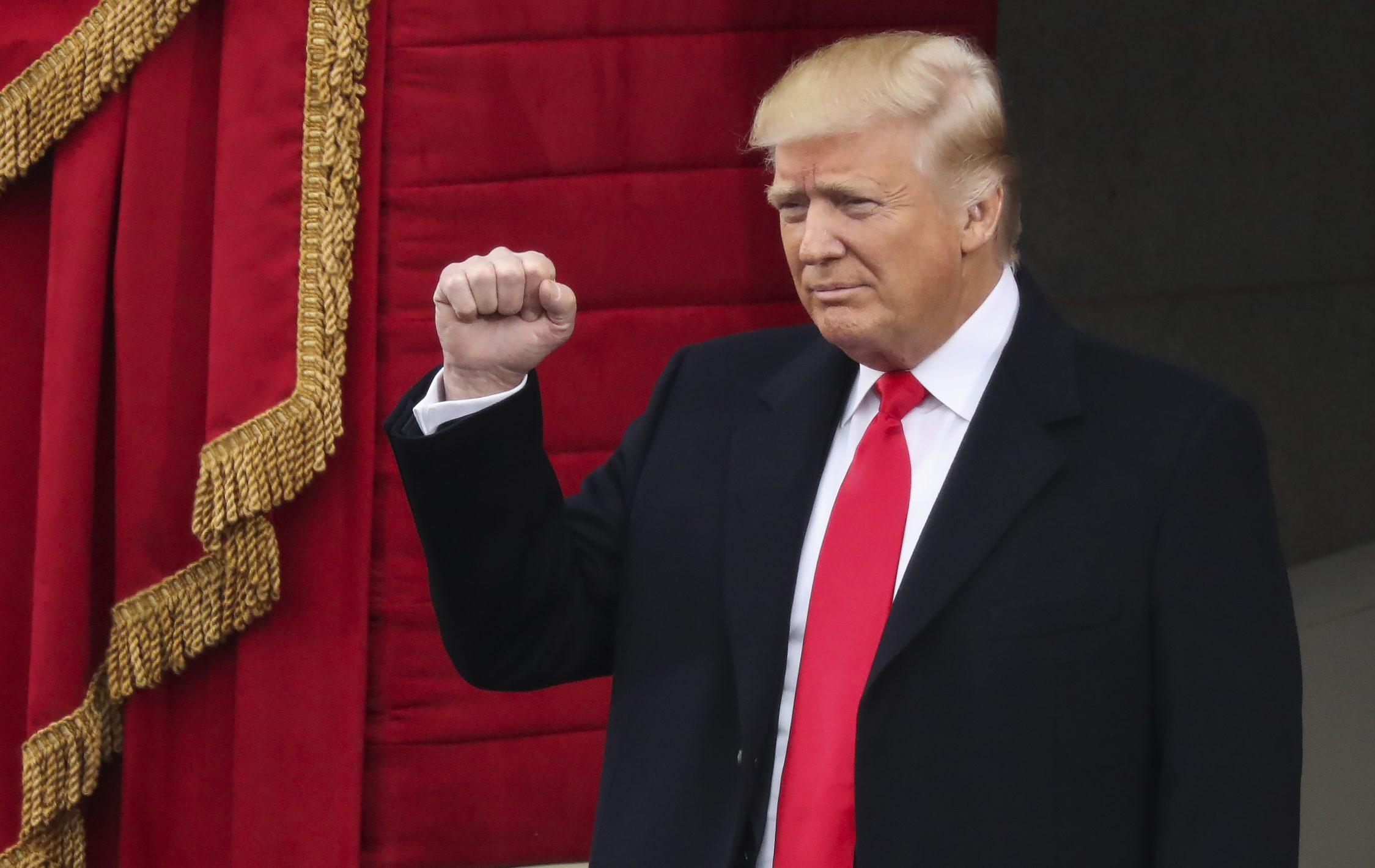 Donald Trump at his inauguration ceremony