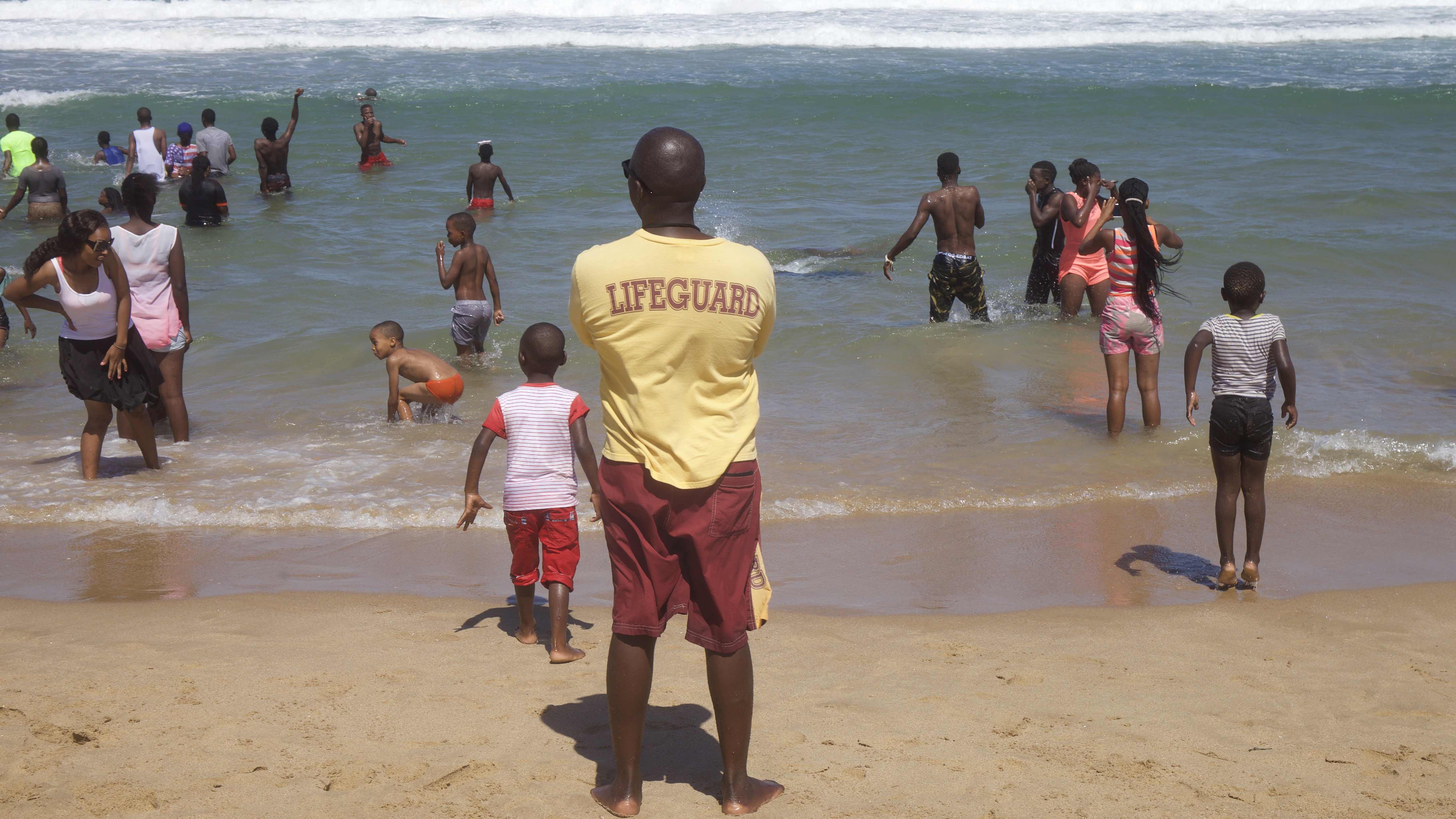 Racial tension still flares on South Africa's beaches, with black people flocking to the county's beaches.
