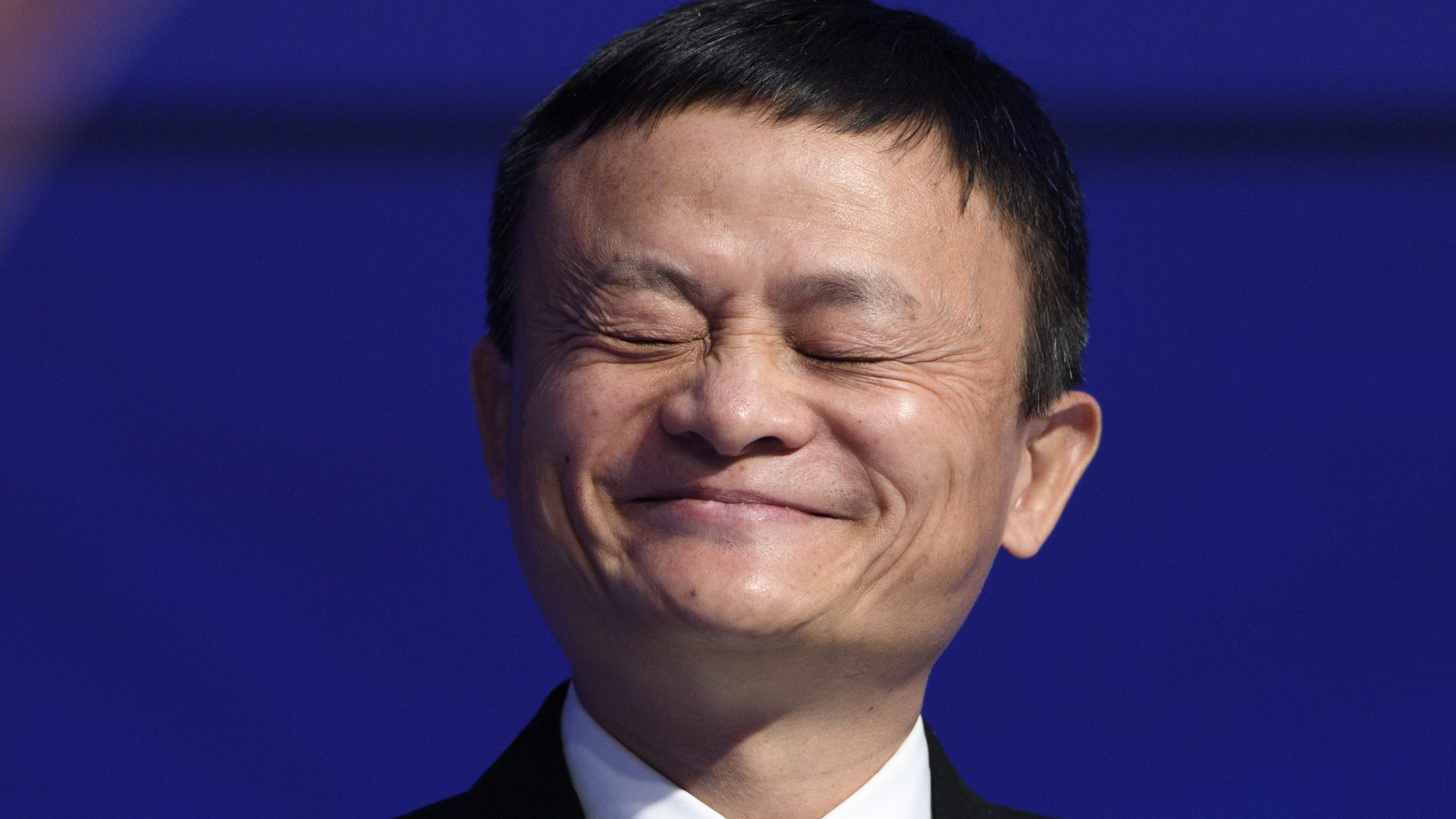 China's Jack Ma, Founder and Executive Chairman of Alibaba Group smiles during a panel session during the 47th annual meeting of the World Economic Forum, WEF, in Davos, Switzerland, 18 January 2017. The meeting brings together enterpreneurs, scientists, chief executive and political leaders in Davos January 17 to 20.