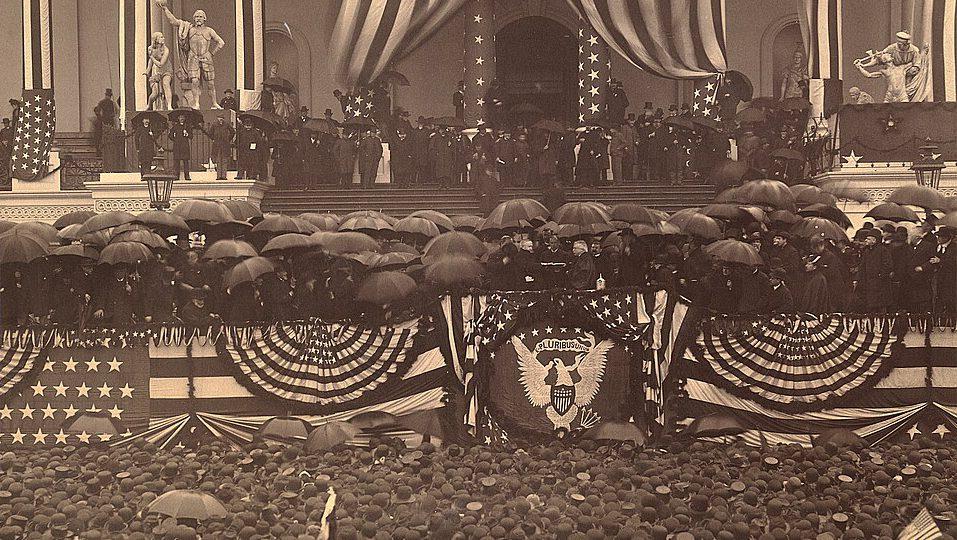 Benjamin Harrison's inauguration, 1889.
