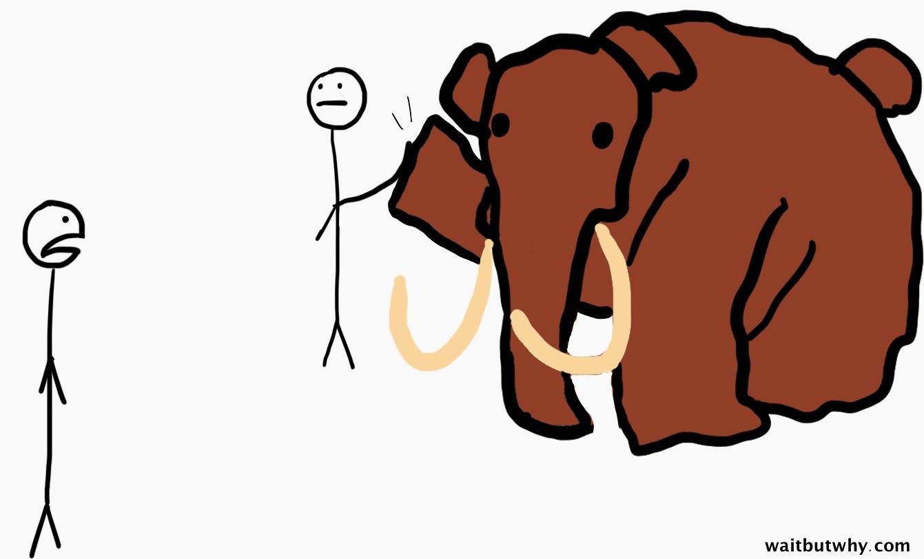 high five-ing mammoth