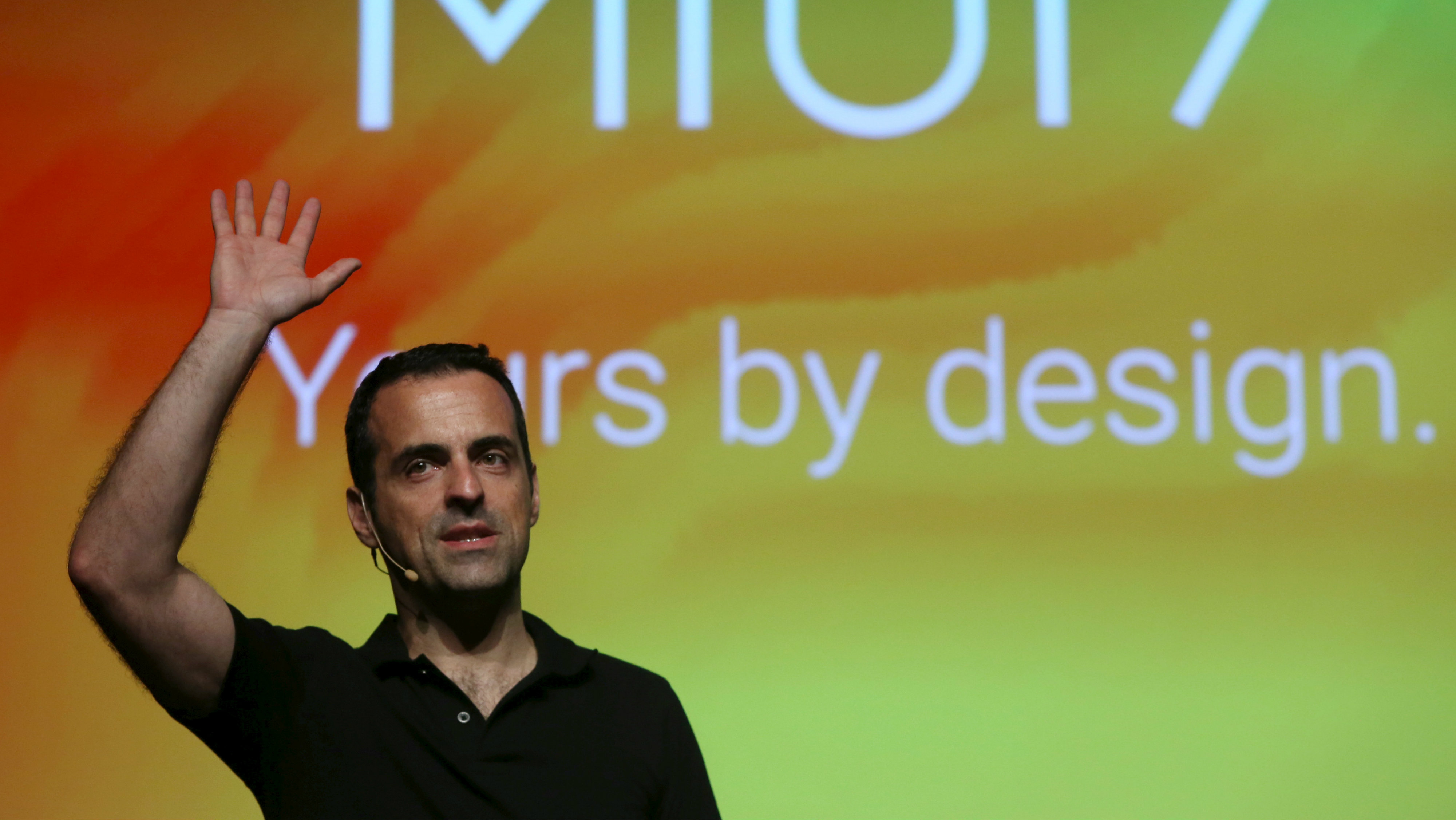 Brazil's Hugo Barra, vice president of international operations for Chinese smartphone maker Xiaomi, speaks during a news conference in Sao Paulo, Brazil, September 24, 2015. Chinese smartphone maker Xiaomi launches a global version of the operating system Miui 7 that will be available in Brazil in October.
