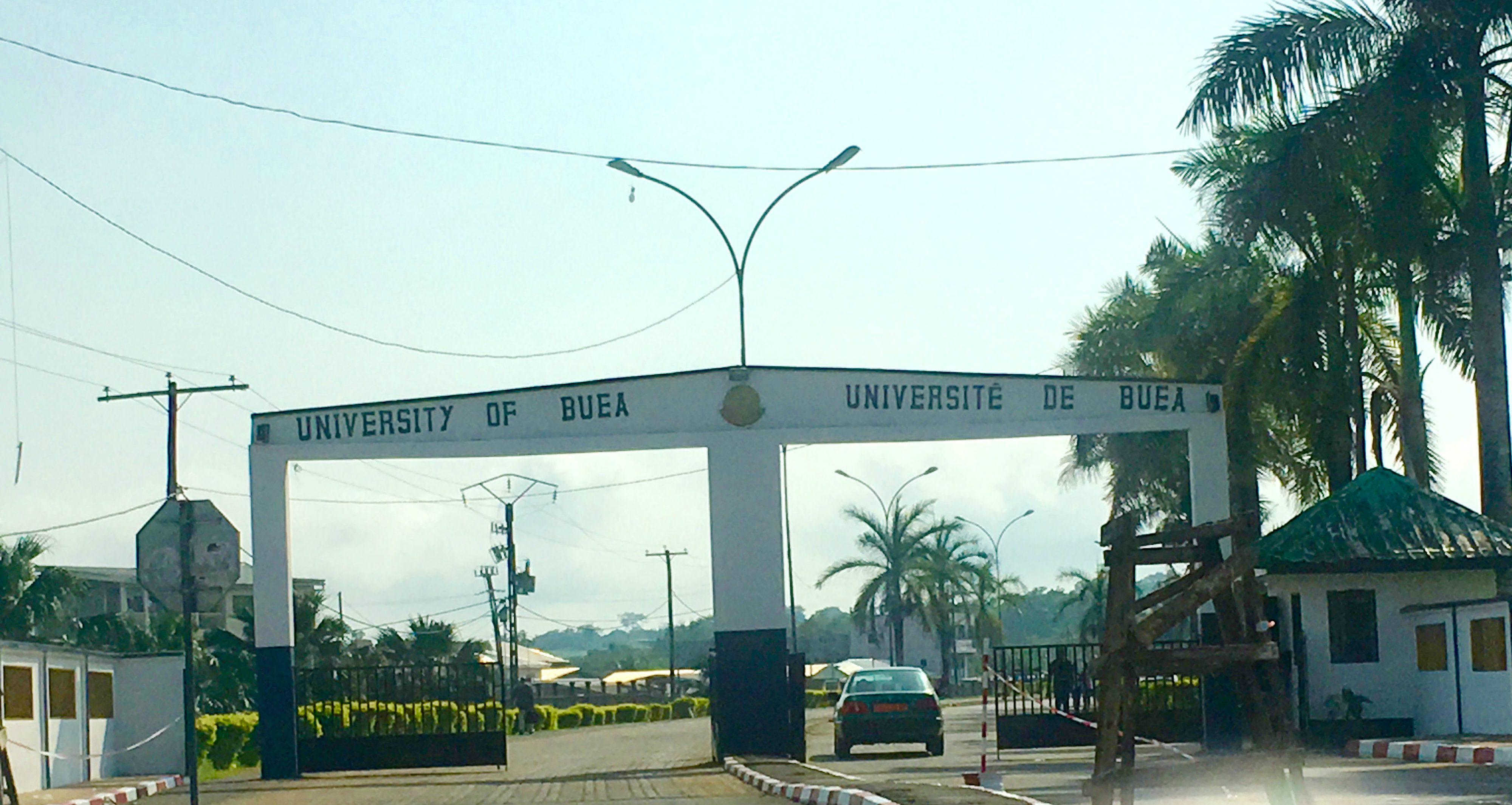 University of Buea in Cameroon's southwest English speaking region.