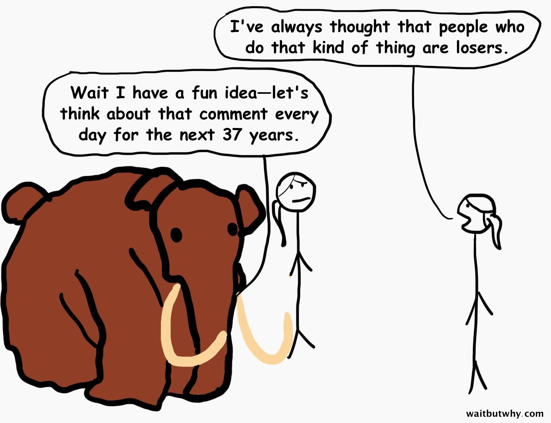 mammoth being a jerk