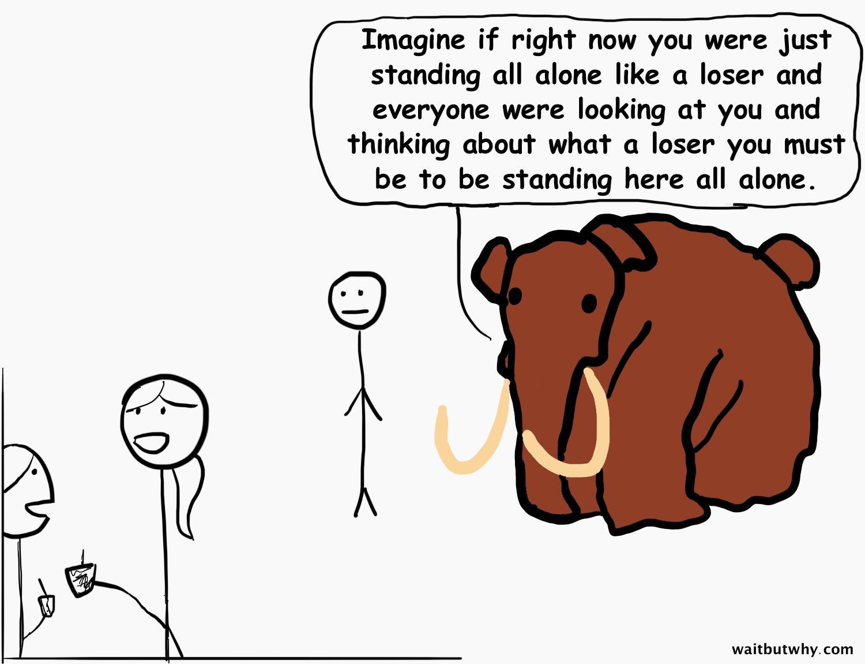 mammoth making guy self-conscious