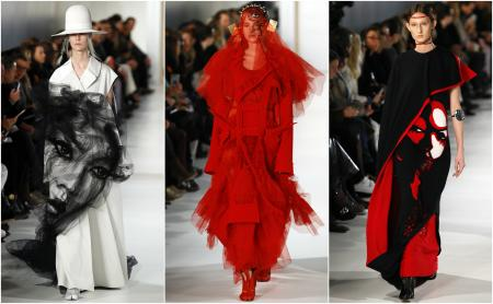 Models wear creations for Maison Margiela's Haute Couture Spring-Summer 2017 fashion collection presented in Paris, Wednesday, Jan. 25, 2017. (AP Photo/Francois Mori)