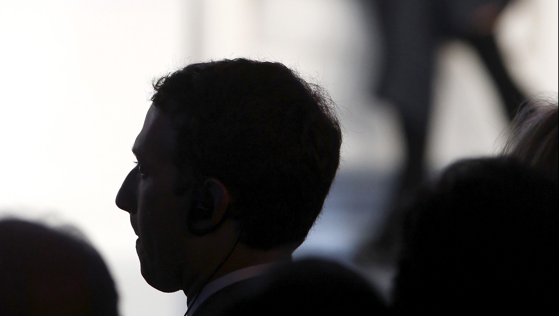 Zuckerberg listens as Obama delivers remarks to business leaders at the CEO Summit of the Americas in Panama City, Panama