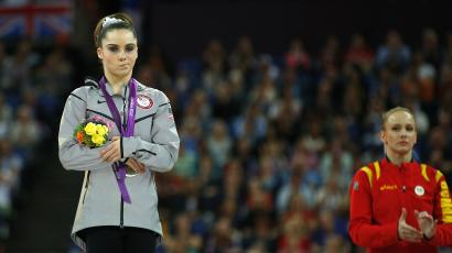 Mckayla Maroney making a face at the Olympics