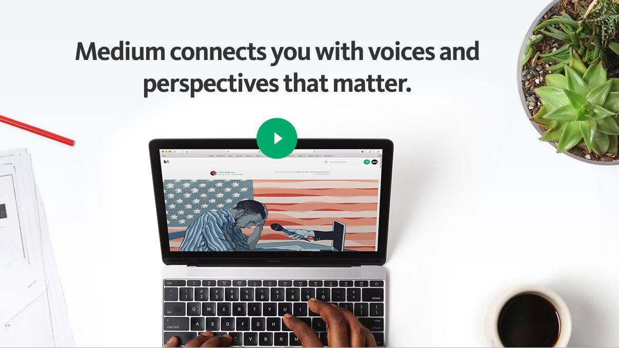 Medium website screenshot