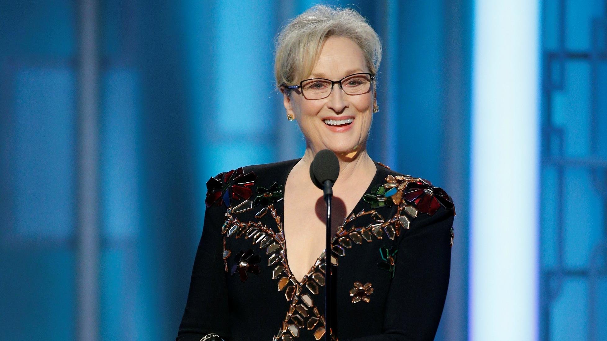 Meryl Streep at the 2017 Golden Globe Awards.