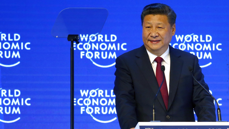 China President Xi at Davos