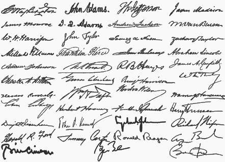 Donald Trump official signature: Trump takes a tediously ...