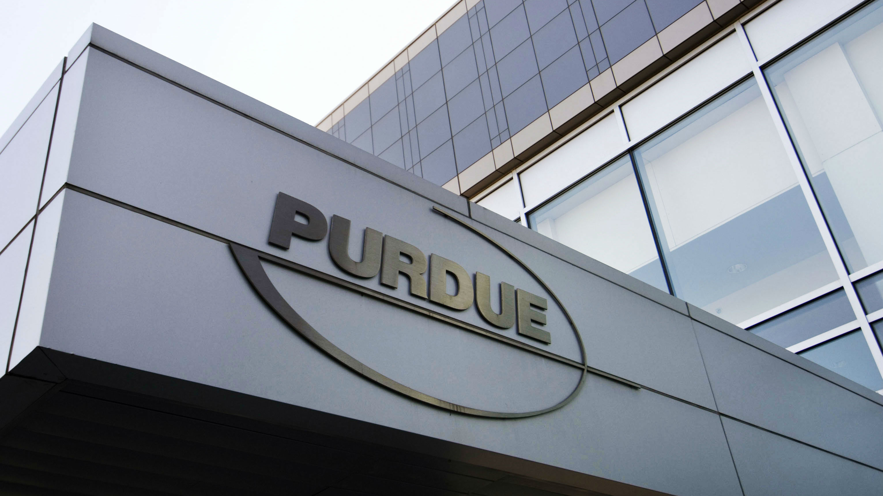 The building front of Purdue Pharmaceutical Industries