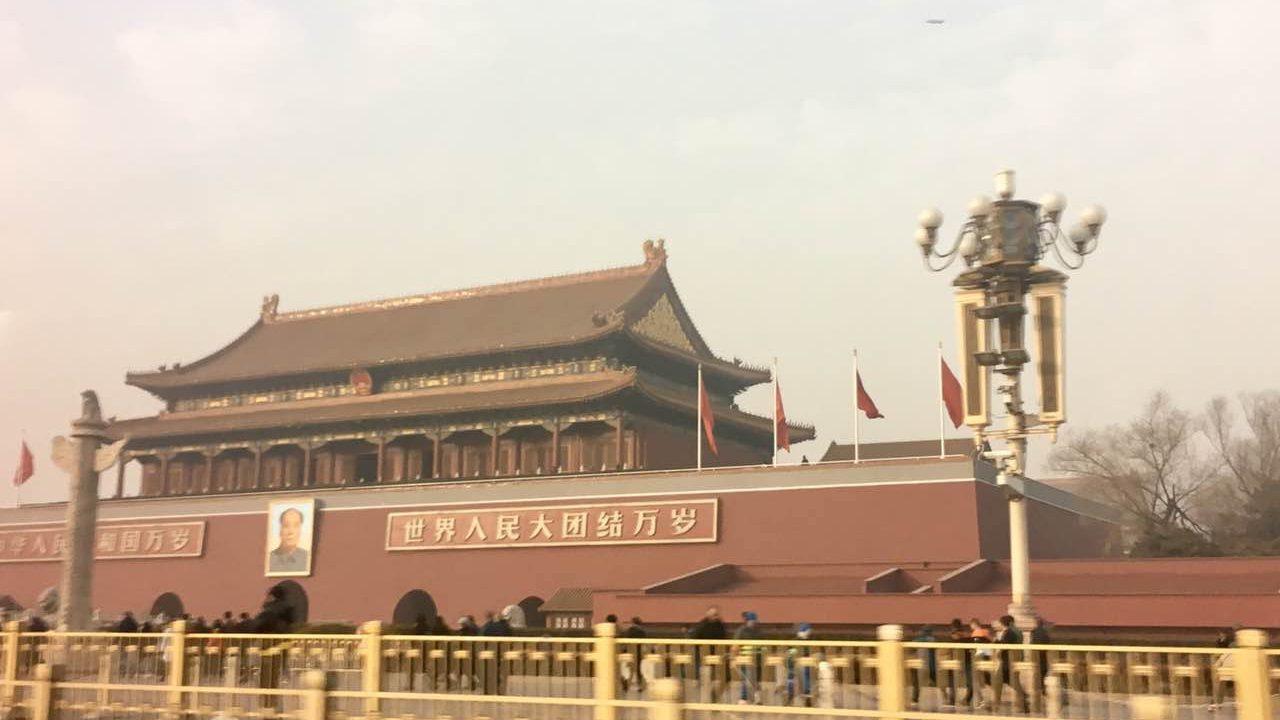 Beijing's Tiananmen Square at 2:30 pm on Jan.4,2017 in