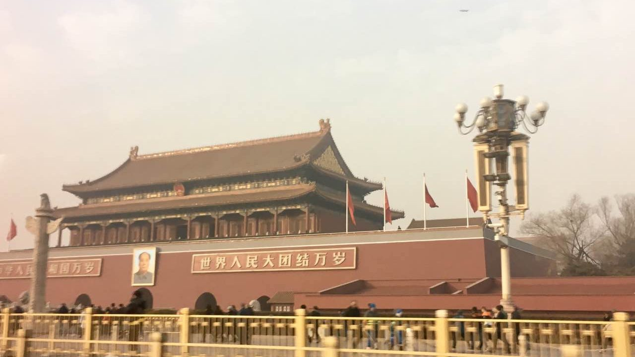Beijing's Tiananmen Square at 2:30 pm on Jan.4,2017 in