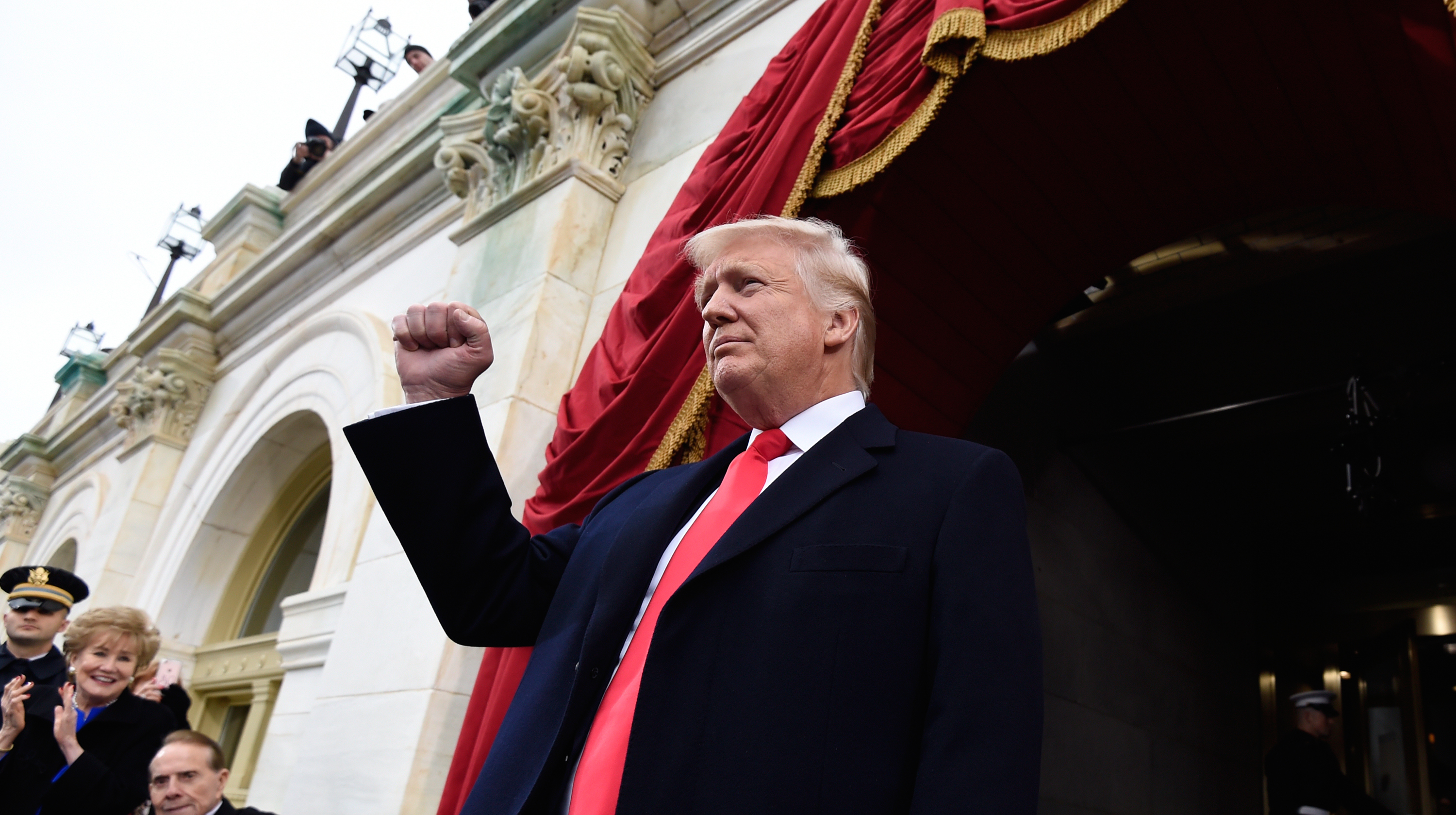 U.S. President-elect Donald Trump arrives for his Presidential Inauguration at the US Capitol in Washington, D.C., U.S. January 20, 2017