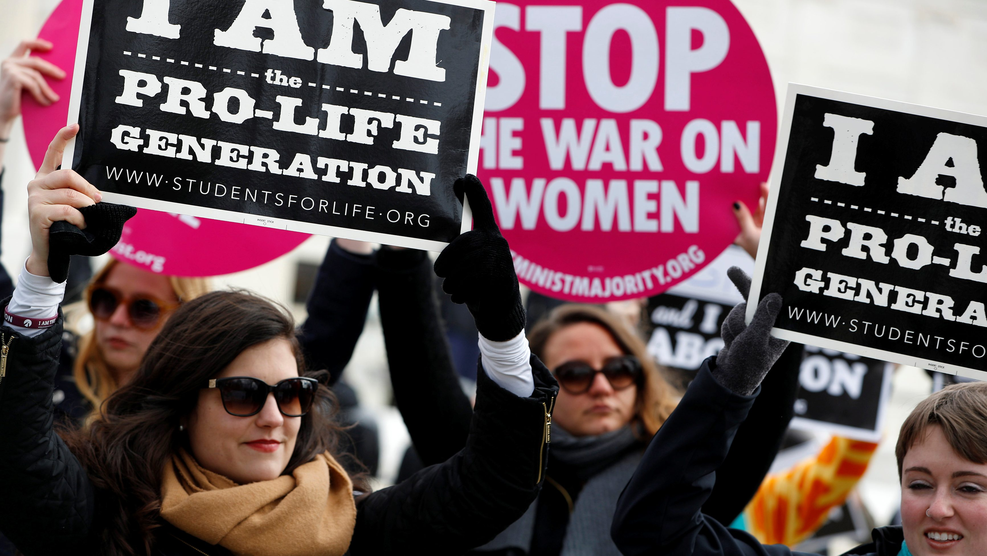 Pro-life activists gather for the National March for Life rally in Washington January 27, 2017.  REUTERS/Aaron P. Bernstein - RTSXP37