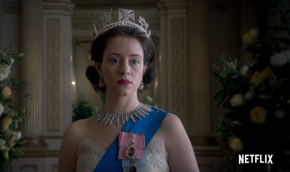 Queen Elizabeth in The Crown on Netflix