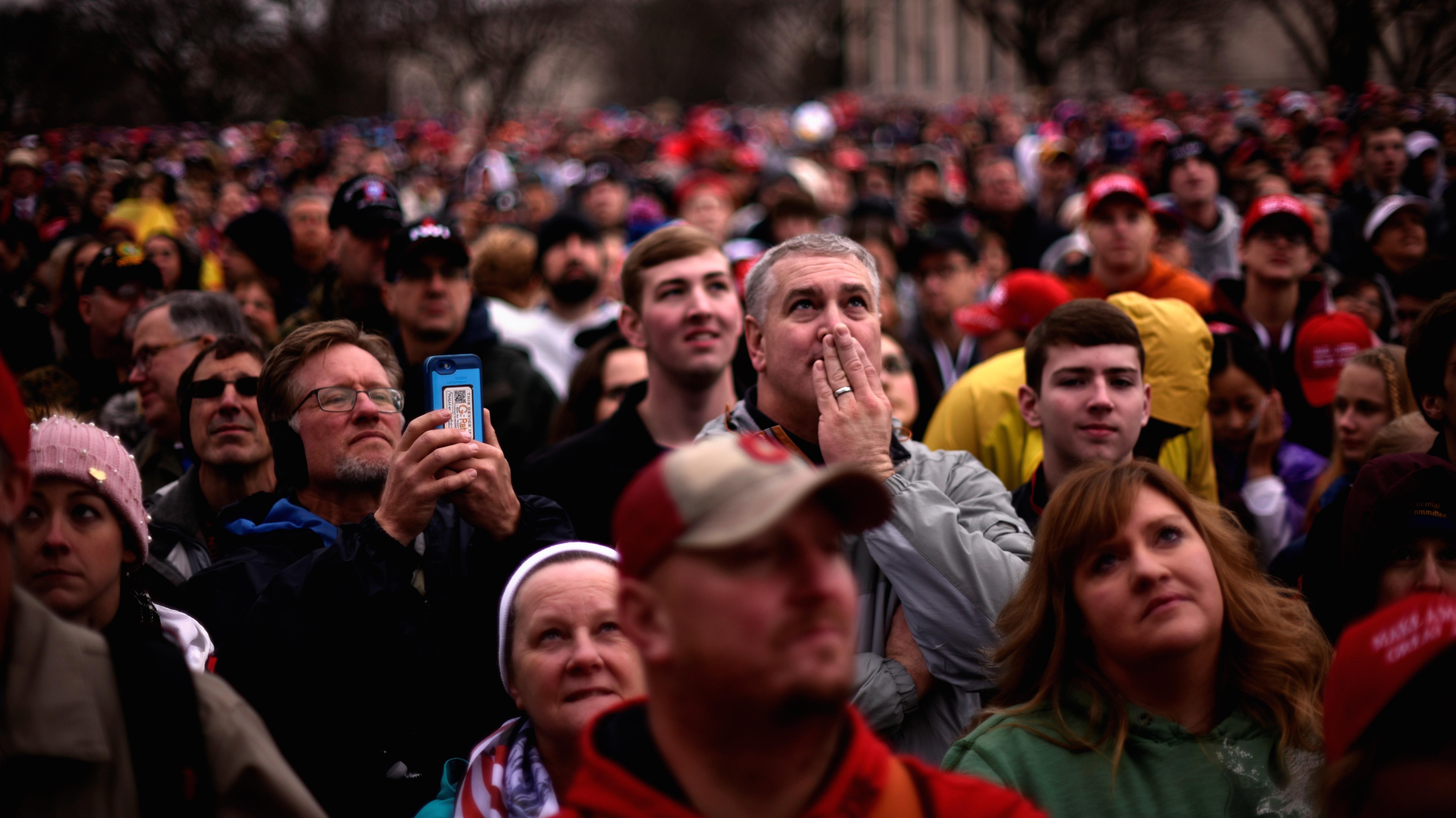 Trump inauguration crowd.