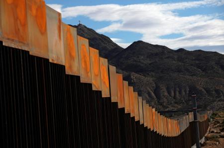 A general view shows a newly built section of the U.S.-Mexico border wall at Sunland Park, U.S. opposite the Mexican border city of Ciudad Juarez, Mexico, November 9, 2016. Picture taken from the Mexico side of the U.S.-Mexico border.