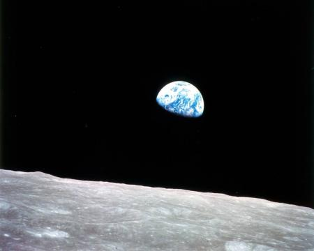 Earthrise planet earth from space