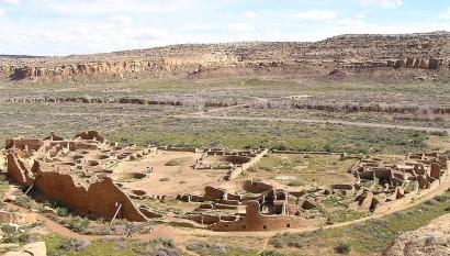 Pueblo Bonito from the northeast section.