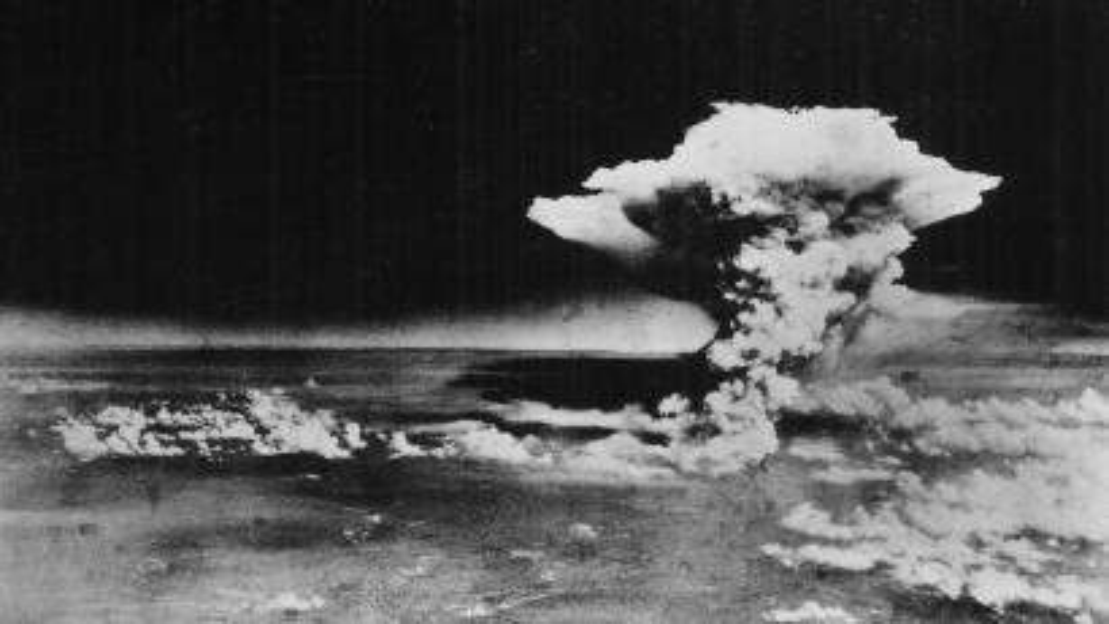 Hiroshima nuclear bomb explosion
