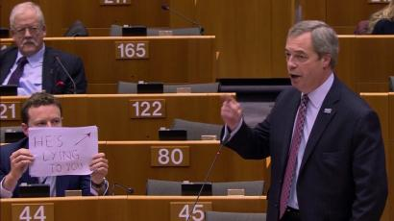 Seb Dance tells Nigel Farage that Trump is lying to him