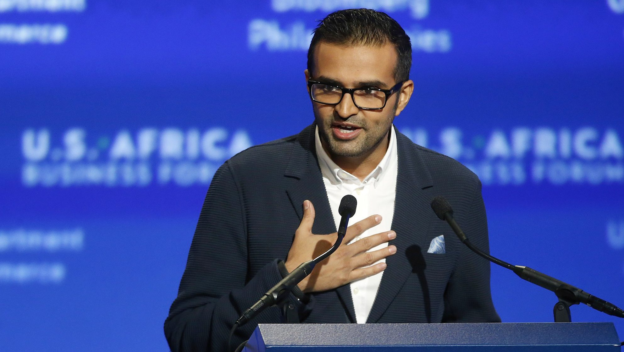 Mara Group Founder and Managing Director Thakkar addresses the U.S.-Africa Business Forum in Washington