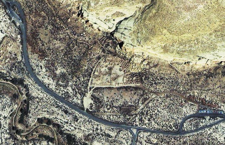 Satellite picture of Pueblo Bonito.