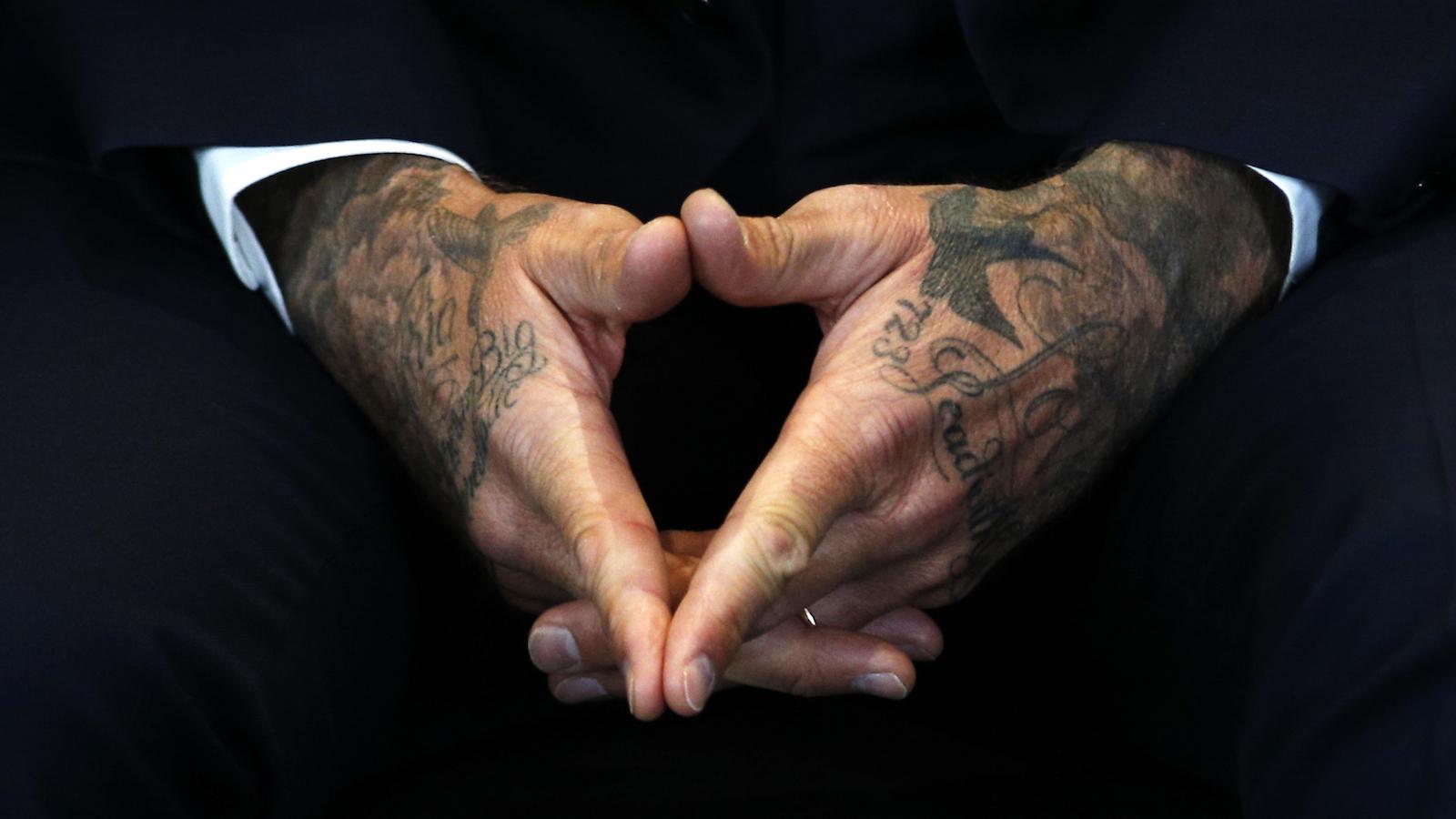 David Beckham hands