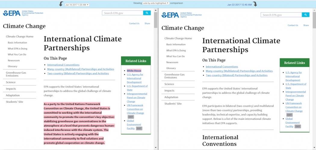 EPA page re: international climate partnerships