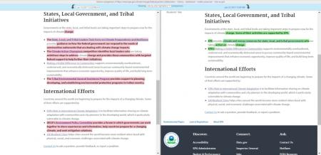 EPA page re: local government and international efforts